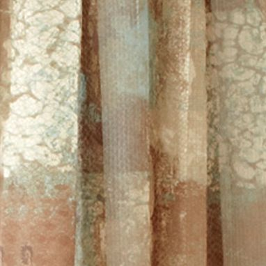 Patterned Curtains: Chocolate Croscill MADAGASCAR SHEER TPANEL 84