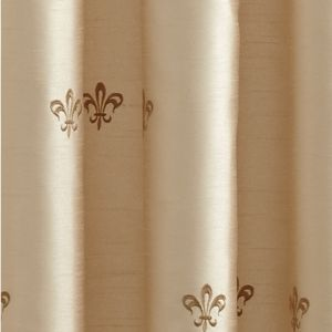 Patterned Curtains: Ivory Croscill BASTILLE LINED TAILORED PANEL