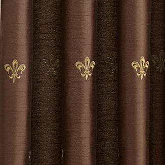 Window Valances: Chocolate Croscill BASTILLE UNLINED ASCOT VALANCE