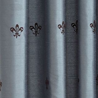 Patterned Curtains: Mineral Croscill BASTILLE LINED TAILORED PANEL