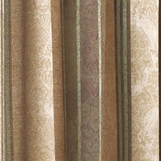 Window Valances: Chocolate Croscill MARQUIS WATERFAL SWA