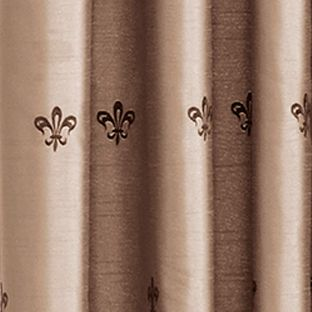Window Valances: Taupe Croscill BASTILLE UNLINED ASCOT VALANCE