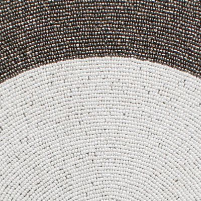 Table Linens and Placemats: Metallic Croscill Yuna Beaded Placemat - Online Only
