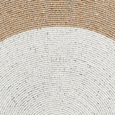 Croscill Bedding and Bathroom Ensembles: Natural Croscill Yuna Beaded Placemat - Online Only