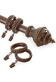 Croscill Fortuna Decorative Rod and Clip Rings