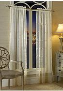 Croscill Cavalier Sheer Drapery Panel and Valance