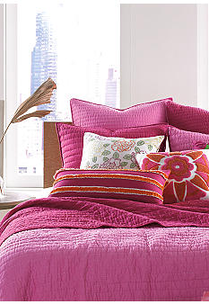 Nostalgia Home Fashions Pickstitch Pink Quilt Collection - Online Only