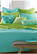 Nostalgia Home Fashions Pickstitch Aqua Quilt Collection - Online Only