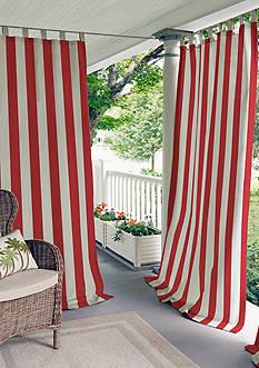 Elrene Highland Stripe Indoor/Outdoor Window Panel
