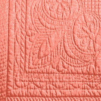 American Traditions products: Coral American Traditions™ FRENCH TILE QUILT