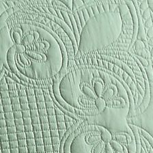 American Traditions products: Opaline Green American Traditions™ FRENCH TILE QUILT