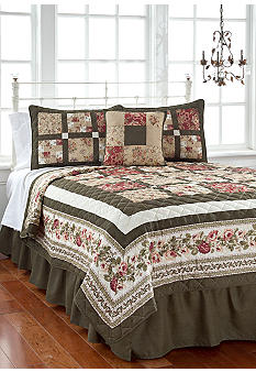 Pem America Tea Rose 5-piece Quilt Set