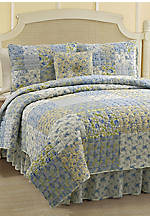 Stephanie Yellow/Blue Queen 5-piece Set 86-in. x 86-in.