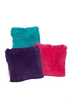 Home Accents Furry Shag Microplush Decorative Pillows