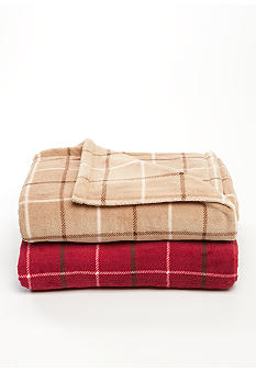 Home Accents® Plaid Microplush Throw