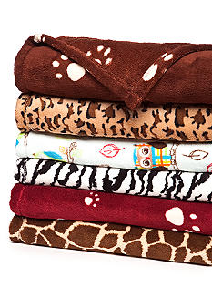 Home Accents Animal Print Microplush Throw
