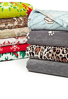 Home Accents Printed Microplush Throw