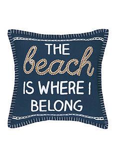 PEKING HANDICRAFT The Beach Is Where I Belong Decorative Pillow