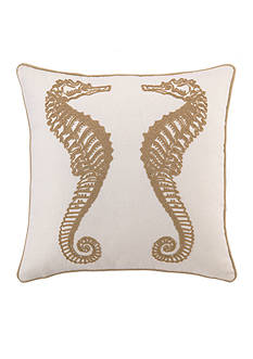 PEKING HANDICRAFT Seahorse Embroidered Decorative Pillow