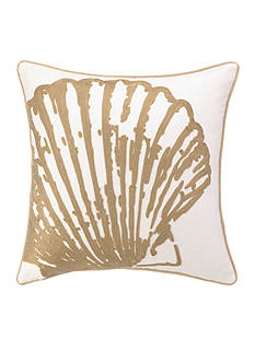 PEKING HANDICRAFT Scallop Decorative Pillow