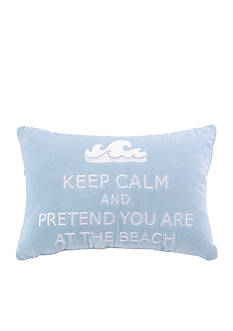 PEKING HANDICRAFT Keep Calm and Pretend You're At The Beach Decorative Pillow