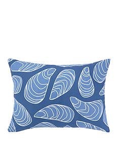 PEKING HANDICRAFT Mussel Printed Outdoor Oblong Decorative Pillow