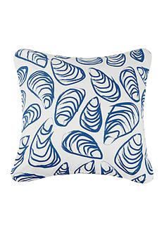 PEKING HANDICRAFT Indigo Coast Shells Decorative Pillow
