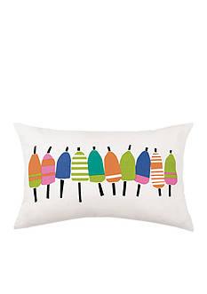 PEKING HANDICRAFT Multi Buoys Printed Decorative Pillow