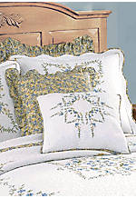 Heather Embroidered Square Pillow 18-in. x 18-in.