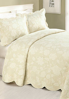 Modern Heirloom Collection Janet Twin Bedspread- Taupe