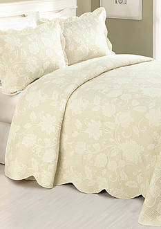 Modern Heirloom Collection Janet Queen Bedspread- Taupe