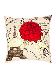 Spencer Red Flower Decorative Pillow