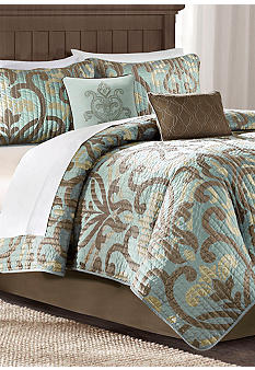Madison Park Winthrop Brown 6-Piece Coverlet Set