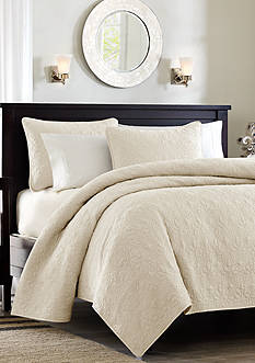 Madison Park QUEBEC KG IVORY COVERLET