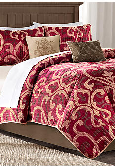 Madison Park Winthrop Red 6-Piece Coverlet Set