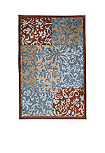 Blue Damask Accent Rug 20-in. x 34-in.