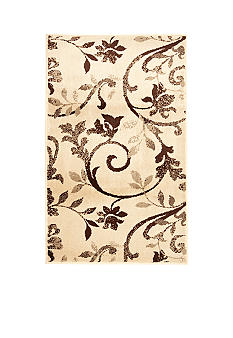 Bacova Floral Scroll Accent Rug