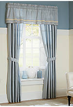 Diana Blue Drapery Panels 48-in. x 84-in. with Tiebacks