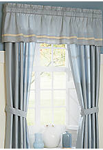 Diana Blue Valance 82-in. x 18-in.