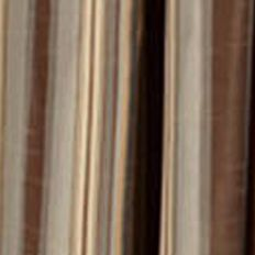 Discount Window Treatments: Chocolate Home Fashion Int'l HEMPSTEAD STRIPE CHO