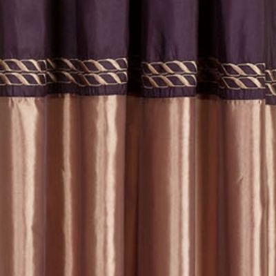 Discount Window Treatments: Eggplant Home Fashion Int'l CORNICE ALMOND 63