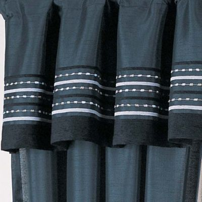 Discount Drapes: Black Home Fashion Int'l Sasha Solid Window Curtain Panel - Online Only