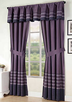 Home Fashion Int'l Sasha Solid Window Curtain Panel - Online Only