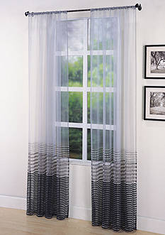 Home Fashion Int'l Sasha Sheer Window Curtain Panel