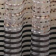 Discount Window Treatments: Chocolate Home Fashion Int'l Sasha Sheer Window Curtain Panel - Online Only