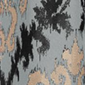 Patterned Curtains: Licorice Home Fashion Int'l Casablanca Window Panel - Online Only