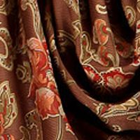 Patterned Curtains: Chocolate Home Fashion Int'l DORIKA PANEL