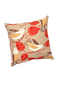 Home Fashion Int'l Song Bird 20-in. Square Decorative Pillow