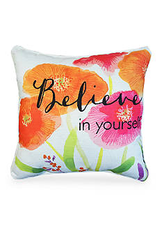 Home Fashions International Edith Believe Floral Decorative Pillow
