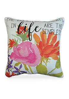 Home Fashions International Edith Life Floral Decorative Pillow